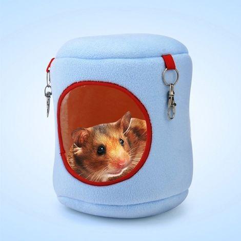 Pour Animal de compagnie House bleu Chaud Hamster Hamac Lit Suspendu Petits Animaux Nid, XL, Taille: 21 * 21 * 21cm Flannel Cyli