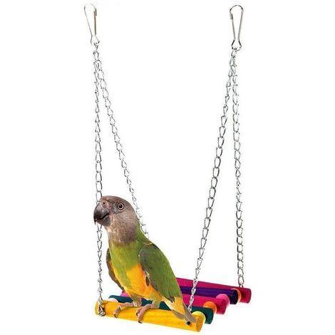 pour Animal Domestique Oiseau Perroquet Perruche Perruche calopsitte élégante Cage Hamac Swing Jouet à Suspendre Accessoires