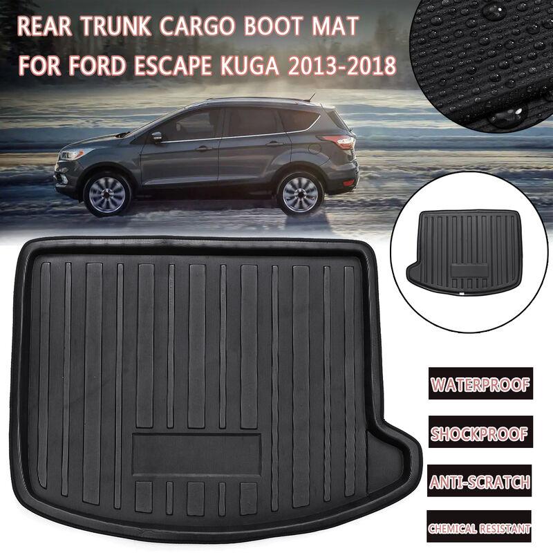 Pour Ford Escape Kuga 2013-2018 tapis de doublure de coffre arrière étanche/antichoc/anti-rayures/résistant aux produits chimiques