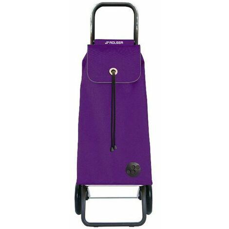 poussette de marché 2 roues 43l lilas - imx001more - rolser