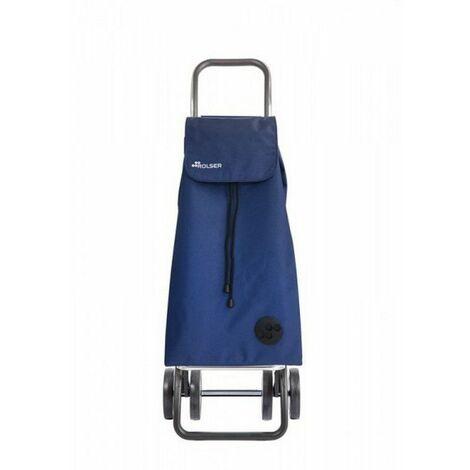poussette de marché 4 roues 43l+4l bleu - imx155azul - rolser