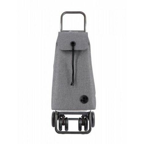 poussette de marché 4 roues 43l gris - imx224gris - rolser