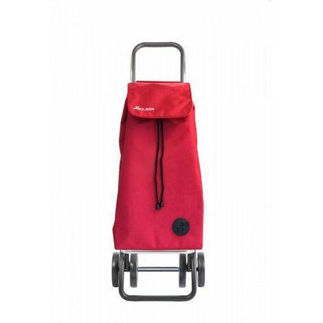 poussette de marché 4 roues 43l rouge - imx155rouge - rolser