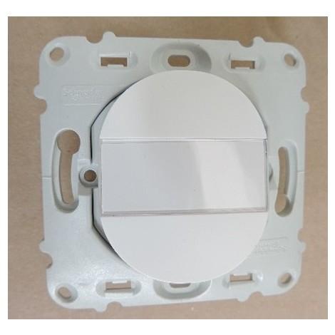 Bouton poussoir porte-étiquette complet Schneider Ovalis blanc S260266