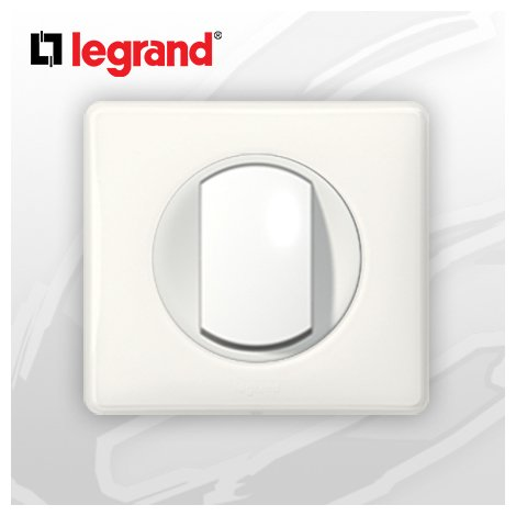 Poussoir complet Legrand Celiane Blanc Glossy Yesterday (doigt large)