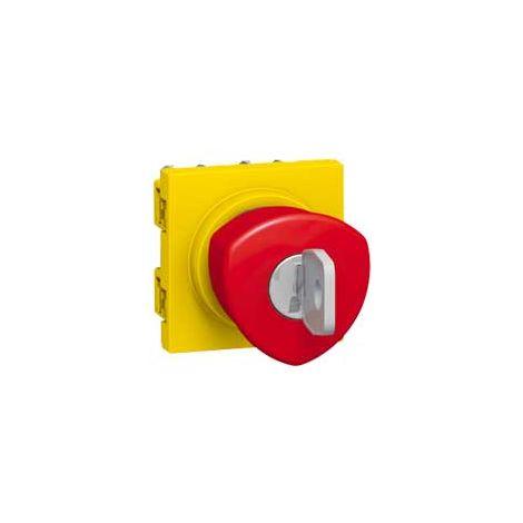 Poussoir coup de poing arrêt d'urgence Prog Mosaic - à clé - 3 A - 2 mod