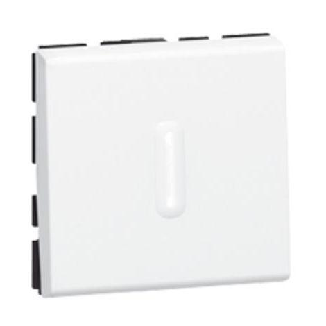 Poussoir inverseur à voyant 6A 250V~ Mosaic 2 modules - blanc - Legrand