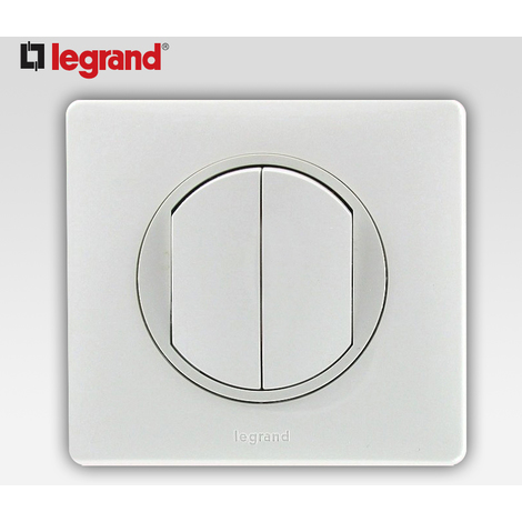 Poussoir inverseur/va et vient Legrand Celiane - toute pose - blanc