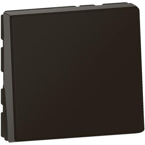 Poussoir lumineux Mosaic - Composable - 2 modules - Voyant fourni - Noir - Legrand
