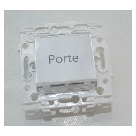 Poussoir lumineux porte etiquette 6A sans lampe fixation vis ESPACE Lumiere ARNOULD 60196