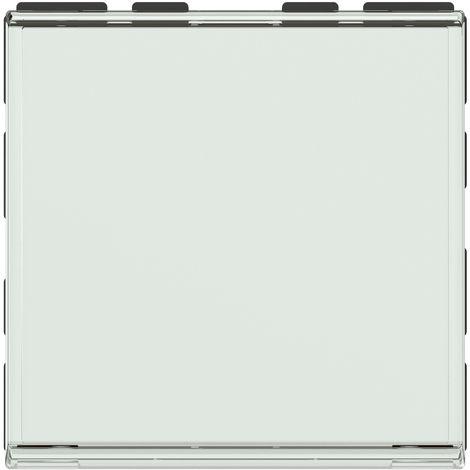 Poussoir Mosaic avec porte-étiquette composable - 2 modules - Blanc - Legrand