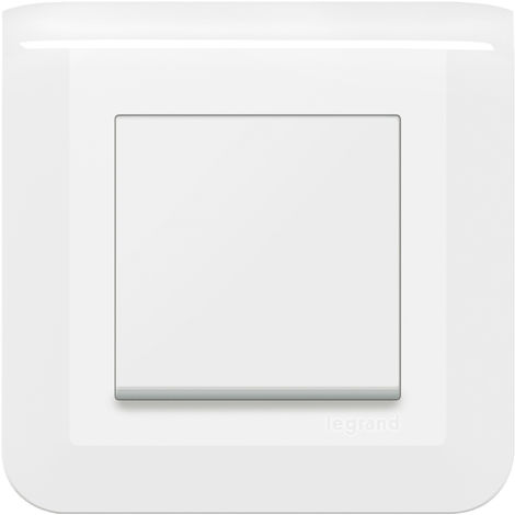 Poussoir Mosaic complet - 6A - Blanc - Legrand