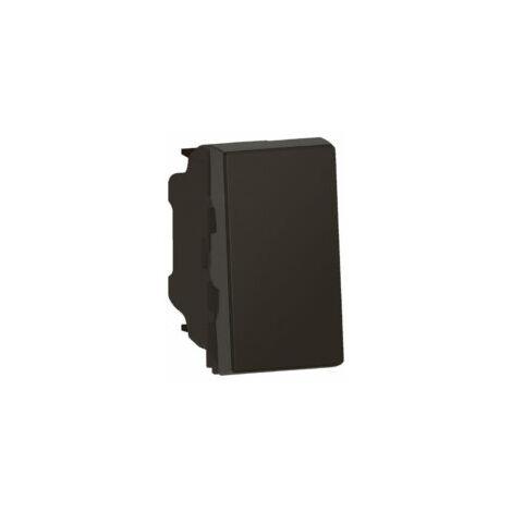 Poussoir ou poussoir inverseur 6A 250V~ Easy-Led Mosaic - 1 module - Noir mat - 079130L - Legrand