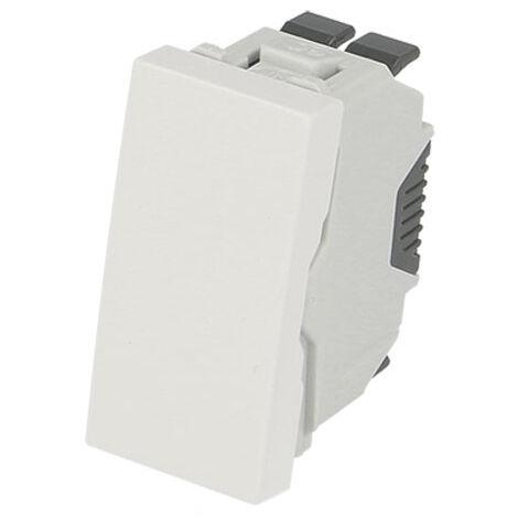 Poussoir simple demi module Efapel 45x45