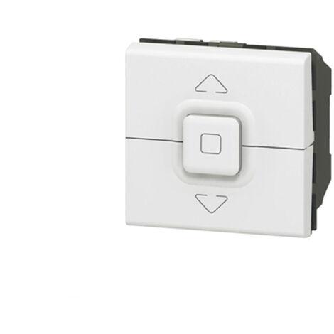 Poussoir Volet Roulant Legrand Mosaic - 2 modules - blanc