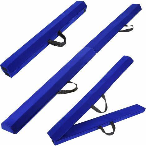 Poutre de gymnastique INTEY, poutre d'équilibre pliable antidérapante avec poignées pour le transport portable, poutre d'équilibre idéale pour les enfants, les adultes, les débutants et les gymnastes, pour la maison et le stade