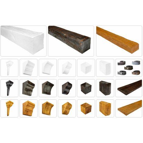 Poutres et accessoires modernes pour plafonds et murs - Revêtement imitation bois, bois déco