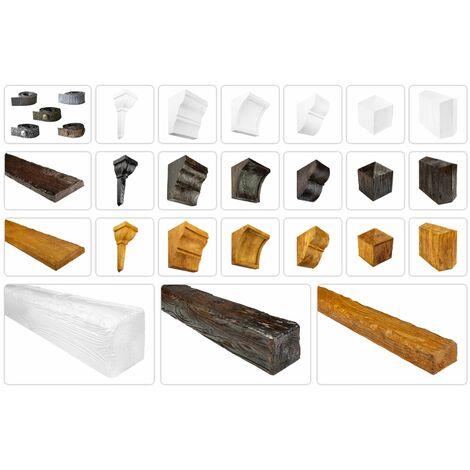 Poutres et accessoires rustiques pour plafond et mur - lambris imitation bois, Bois déco