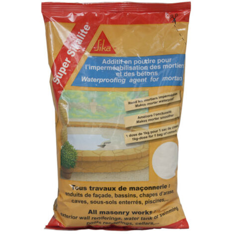 Powder additive for waterproofing mortars and concretes - SIKA Super Sikalite - White - 1kg
