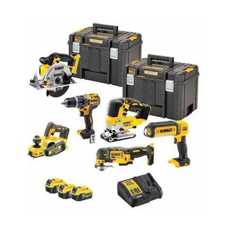 Power kit 6 herramientas Dewalt a batería 18V DCK665P3T