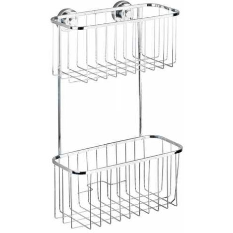 Power-Loc® cesto doble Bovino de acero fino con repisas WENKO