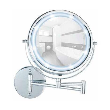 Power-Loc Wall Mirror, LED Lumi WENKO