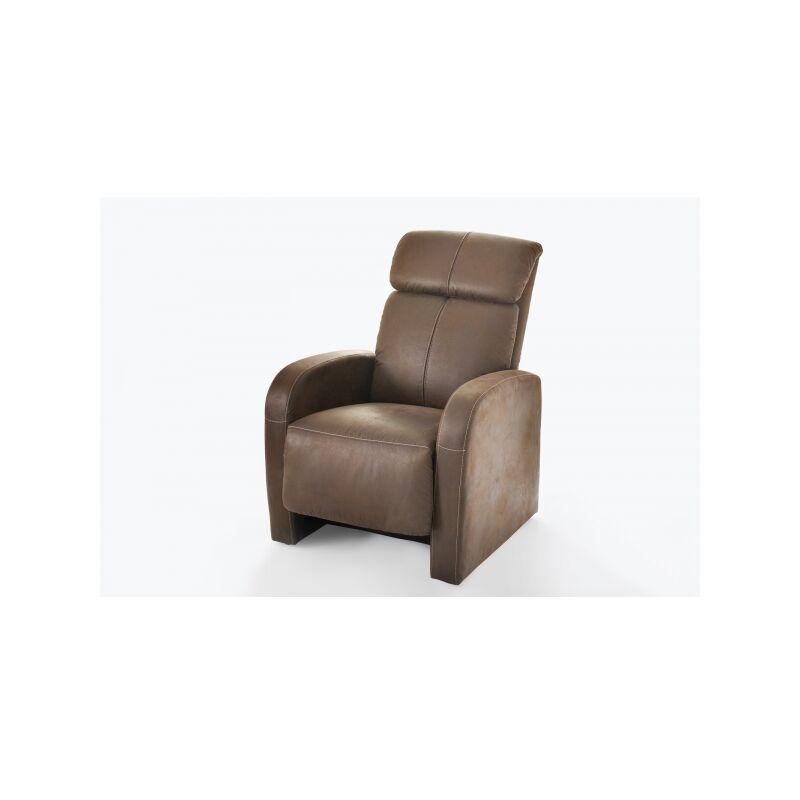 Power Polstersessel TV-Sessel Fernsehsessel Relaxsessel mit Funktion in antik braun-'SW9419' - PROCOM
