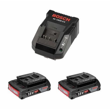 Power Set BOSCH (2 x 18V 2,0 Ah AL1820CV)