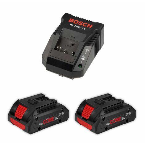 Power Set BOSCH (2 x 18V 4,0 Ah ProCORE AL1820CV)