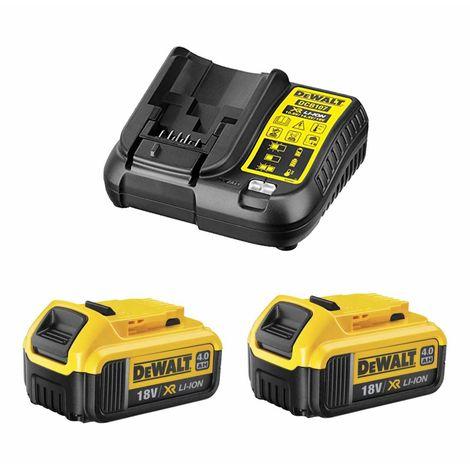 Power Set DeWALT (2 x 18V 4,0 Ah + DCB107)