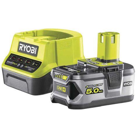 Power Set RYOBI RC18120-150 (1 x 5,0 Ah + RC18120)