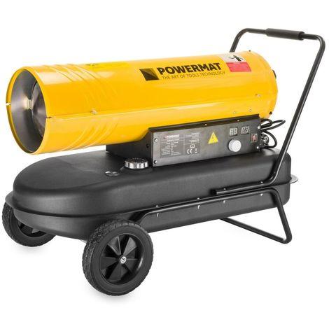 POWER TOOL | Canon à air chaud fioul diesel 40 kW | Débit d'air 720 m³/h | Capacité réservoir 38L | Chauffage atelier chantier | Jaune