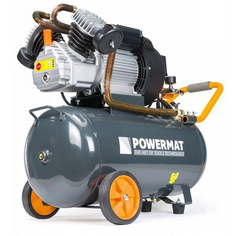 POWER TOOL | Compresseur à huile 8 bars + moteur de puissance 2,2 kW | Régime 2850/min | Outils pour construction/atelier | Gris - Gris