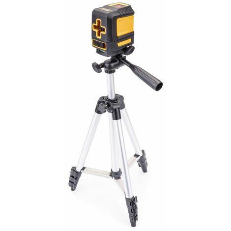 POWER TOOL - Niveau à laser - 1 diode - Laser vert croisé - Précision ±3mm-10m - 2 piles AA - Distance de mesure 30 m - Gris
