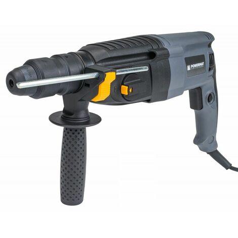 POWER TOOL | Perforateur puissance 2500W | Perfo-burineur | 3,2 J | Perçage bois/acier/béton| Chantier atelier bricolage - Gris