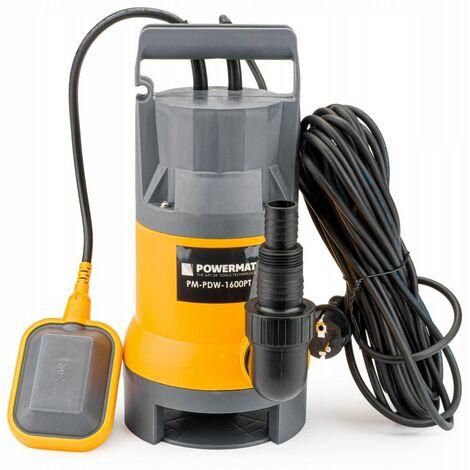 POWER TOOL - Pompe électrqiue - Alimentation : 230V/50Hz - Puissance 1600W - Débit max. 9500 L/h - Poids : 3,5 kg - Gris