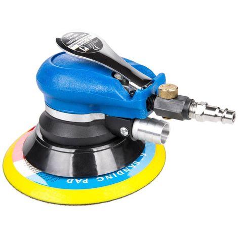 POWER TOOL | Ponceuse excentrique pneumatique | Pression 6,3 bar/90 PSI | Ø Plateau ponçage 6/150mm | Débit d'air 340 l/min - Bleu