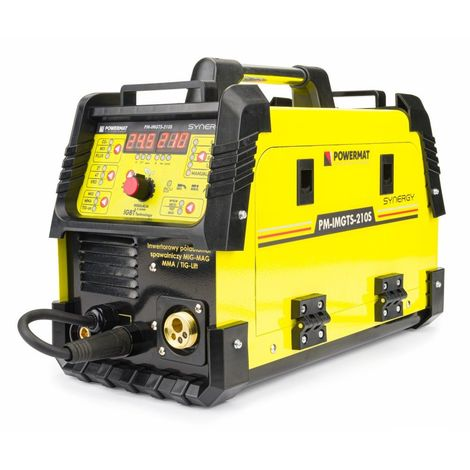 POWER TOOL | Poste à souder Inverter 210A MIG / MAG / MMA / LIFT-TIG synergic | Hot Start + Anto Stick + Arc Force | Jaune - Jaune