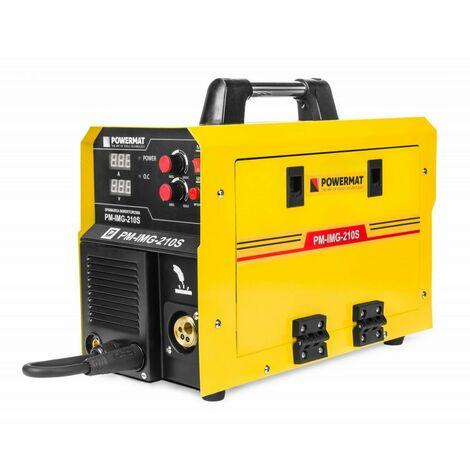 POWER TOOL - Poste à souder Inverter 210A MIG / MAG / MMA - Technologie IGBT - Electrodes 2.5 mm / 4.0 mm - Jaune