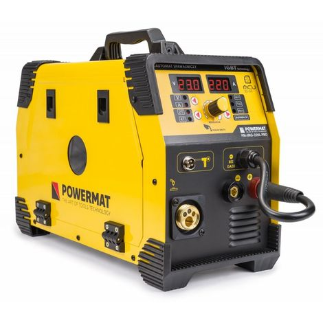 POWER TOOL | Poste à souder Inverter MIG/MAG 30A - 220 A | Puissance 6,1kVA | Système Hot Start + Anti Stick + Arc Force | Jaune - Jaune