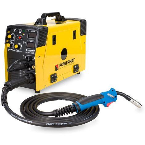 POWER TOOL | Poste à souder MIG/MAG 6,1kVA TIG/MMA 5,8kVA | Dimètre électrode 2,5mm-4mm | Pince de masse/Torche EURO MIG/MAG | Jaune - Jaune