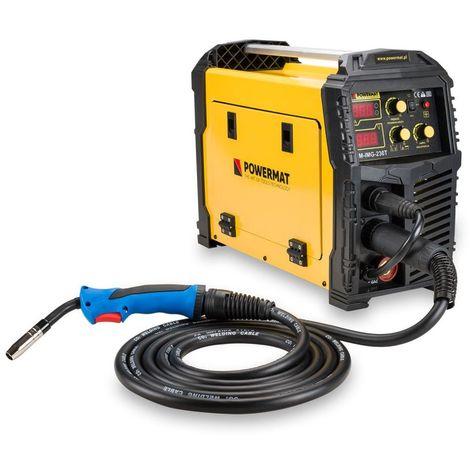 POWER TOOL | Poste à souder migomat MIG / MAG / TIG / MMA 230A | 6,1 kVA/5,8 kVA | Alimentation : 230 V / 50 Hz | Jaune - Jaune