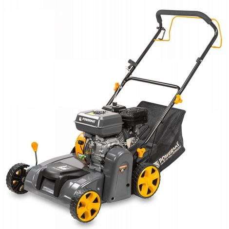 POWER TOOL | Scarificateur Aérateur thermique 4,8kW 196 cm3 | Moteur 4 temps essence 95 Pb | Outil jardin gazon pelouse | Jaune