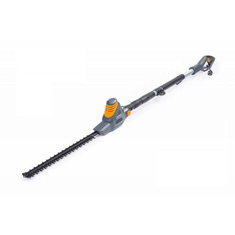 POWER TOOL | Taille haie télescopique sur perche électrique 900W 1650 tours/min | Longueur coupe 454 mm | Outil jardin - Gris