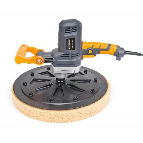 POWER TOOL | Talocheuse élctrique 750W 110 tours/min | Taloche rond à main | Lissage + Rabotage | Outil bricolage atelier chantier - Gris