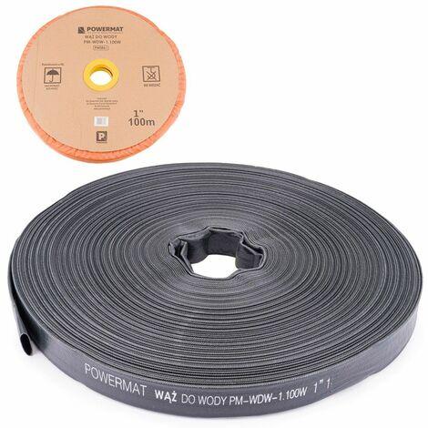 POWER TOOL - Tuyau 100 m - Diamètre 1/26mm - Pression de service 2 bars - Noir