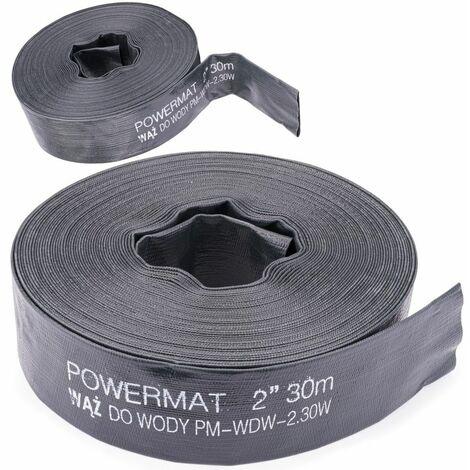 POWER TOOL - Tuyau 20 m - Diamètre 2/52mm - Pression de service 2 bars - Noir