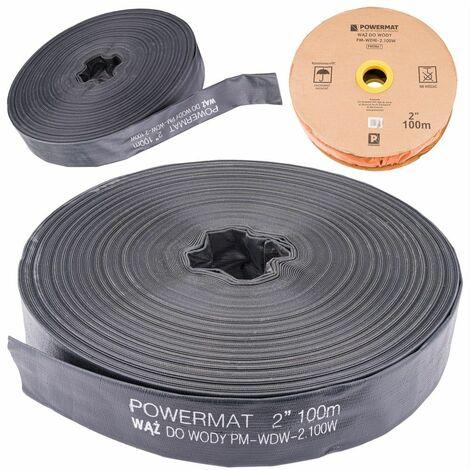 POWER TOOL - Tuyau 30 m - Diamètre 1/26mm - Pression de service 2 bars - Noir