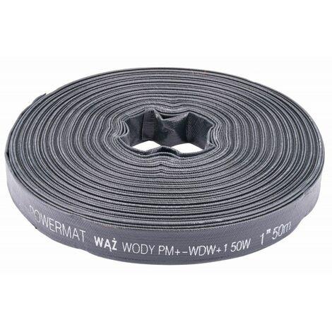 POWER TOOL - Tuyau 50 m - Diamètre 1/26mm - Pression de service 2 bars - Noir