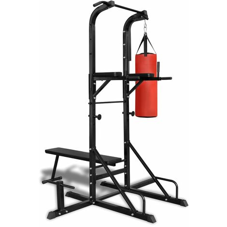 Power Tower with Sit-up Bench and Boxing Bag